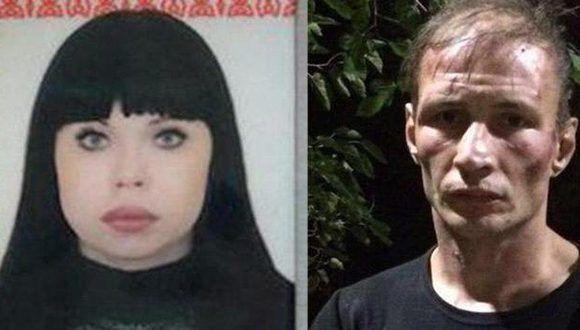 La pareja de caníbales arrestada en Rusia. Foto: @sipqex/ RT.