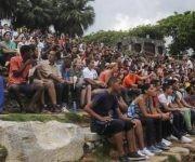 """Participantes del Acto de Reinauguración del Anfiteatro del Parque """"Lenin"""", en La Habana, Cuba,  el 2 de septiembre de 2017 ACN FOTO/Oriol de la Cruz ATENCIO"""