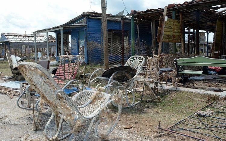 El consejo popular La Panchita, en la costa, fue uno de los más afectados por los embates de «Irma» en Corralillo. Foto: Arelys María Echevarría Rodríguez.