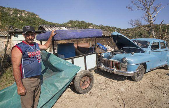 Jorge Barrueta, habitante de Puerto Escondido, Santa Cruz del Norte, Mayabeque. Foto: Ismael Francisco.