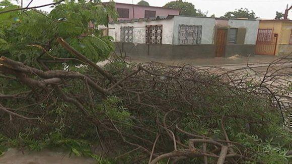 Vecinos de la zona dan cuenta de la destrucción de techos de viviendas, inundaciones, obstrucción de vías, caída de árboles y postes, fuerte oleaje y penetración del mar. Foto: Julián Puig Hernández/ Facebook.