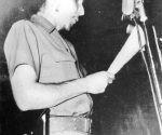 Raúl Castro Ruz en Casa de las Américas, el 11 de septiembre de 1959. Foto: Cortesía Casa de las Américas.