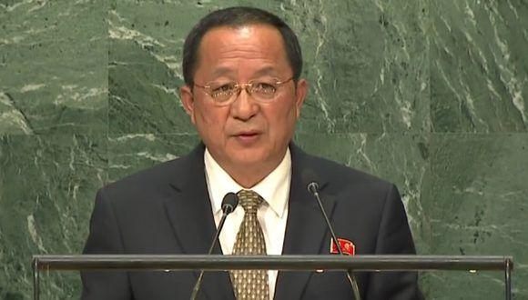 Ri Yong-ho, ministro de Relaciones Exteriores de la República Popular Democrática de Corea. Foto: Alwaght.