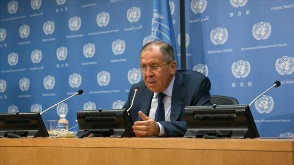 El canciller ruso, Serguei Lavrov, en Naciones Unidas. Foto: ONU.