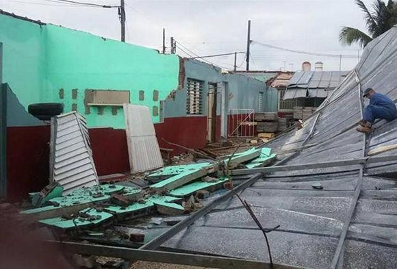 La torrefactora de café del municipio fue uno de los centros estatales más afectados. Foto: Aramís Fernández/ Escambray.