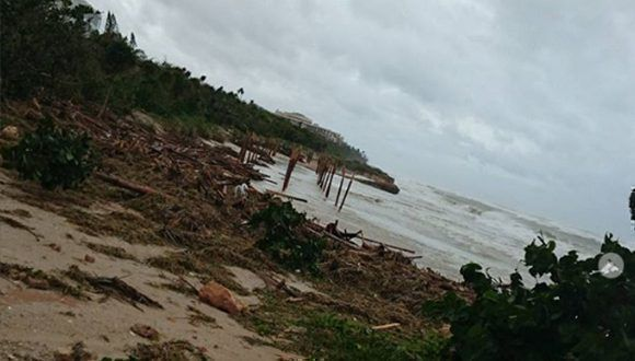 Varadero después de Irma. Foto: _anna_fil / Instagram