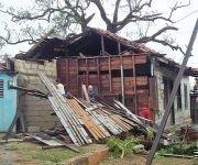 Viviendas afectadas en el municipio de Bolivia, Ciego de Ávila. Foto: Alejandro Companioni/ Facebook.