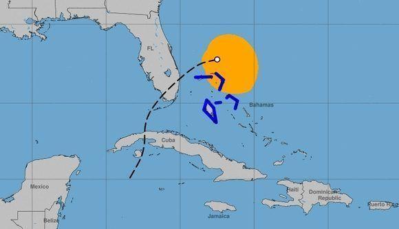Trayectoria aproximada de la depresión tropical 18 - Philippe del 28 al 29 de octubre. Gráfico: CNH.