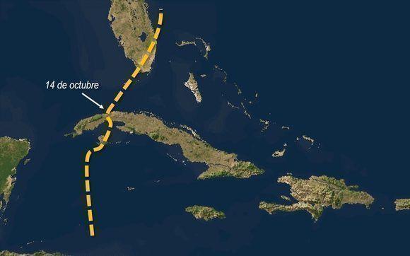 Recorrido de Irene, el ciclón tropical número 13 de la temporada de 1999. Provocó una ráfaga de viento de 122 km/h en la capital. Diseño: Danier Ernesto González. Fuente: CNH.