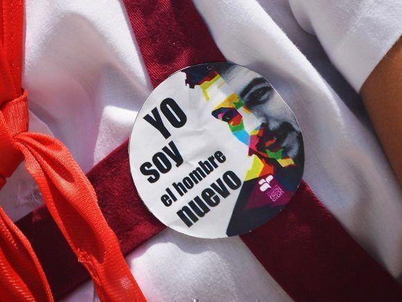 Lo más pequeños también compartieron la iniciativa de llevar al Che consigo. Foto: Diego Santana.