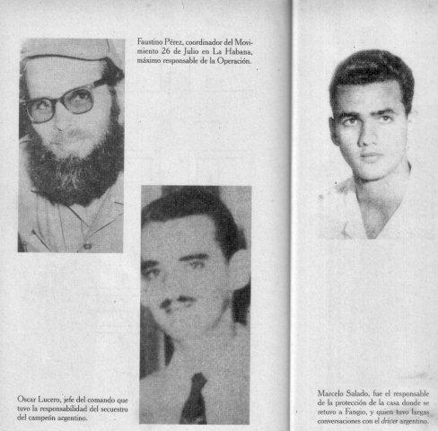 Faustino Pérez, Oscar Lucero y Manuel Uziel