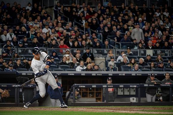 Aaron Judge lideró a su equipo con un HR, dos impulsadas y dos anotadas. Foto: Hilary Swift/ NY Times.
