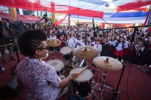 Bandancha en uno de sus conciertos por América del Sur. Foto: Cortesía de la entrevistada.