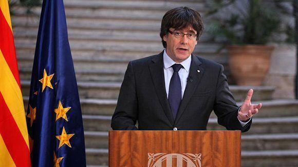 Carles Puigdemont en Girona el sábado pasado. Foto: AP.