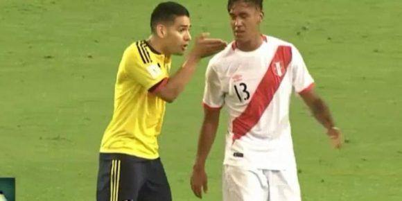 Renato Tapia reveló lo que habló con Radamel Falcao en el partido