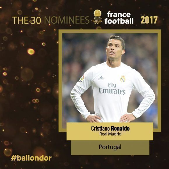 Cristiano Ronaldo es el favorito de muchos. Foto: @francefootball.