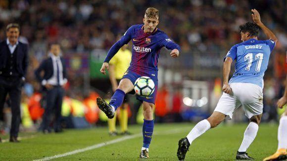 Deulofeu anotó un gol que no debió abrir el marcador. Foto: @FCBarcelona_es.