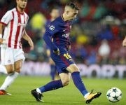 Deulofeu tuvo una ocasión que atajó el portero rival. Foto: @FCBarcelona_es.