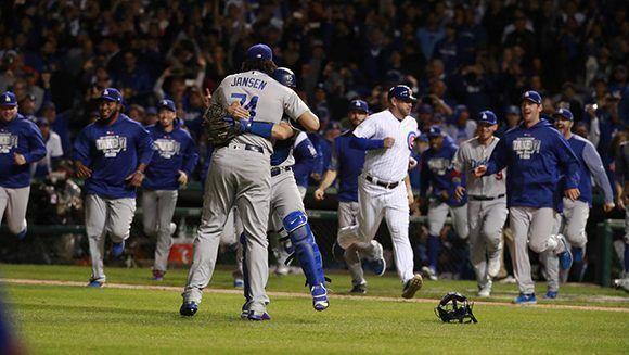 Dodgers celebra su regreso a una Serie Mundial después de 29 años. Foto: Chicago Tribune.