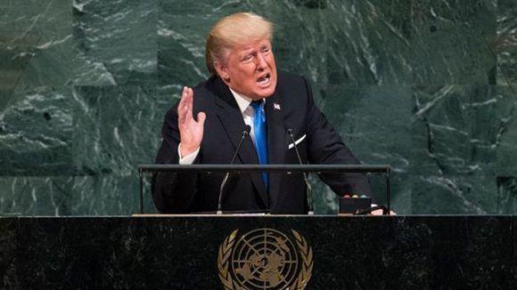 Donald Trump, quien ha sido muy crítico de toda la Organización de Naciones Unidas, está siguiendo los pasos de Reagan. Foto: AFP.