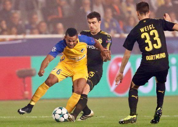 El APOEL resistió ante el Dortmund. Foto: @apoelfcofficial.