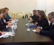Diálogo con la Vicepresidenta del Consejo de la Federación de Rusia.