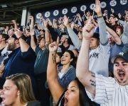 El público en el Yankee Stadium disfrutó el triunfo de su equipo. Foto: @Yankees.