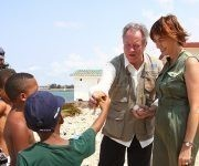 En reciente visita a Cuba, el Director Ejecutivo del PMA, David Beasley, pudo constatar la fortaleza de Cuba en materia de protección social. Foto: PMA.
