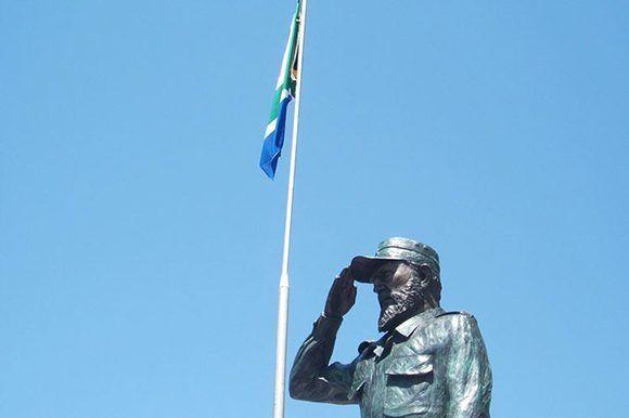 Nueva estatua de Fidel en el sur del continente africano. Foto: Embajada de Cuba en Sudáfrica.