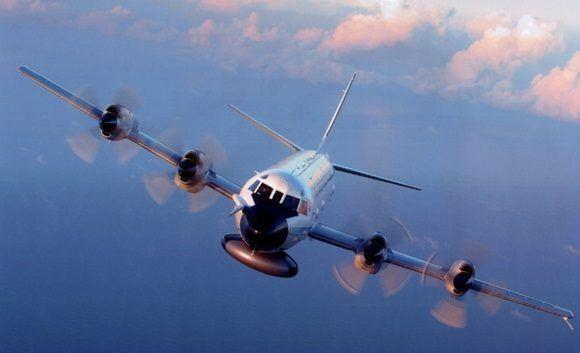 Avión cazahuracanes Lockheed WP-3D Orion de la NOAA.