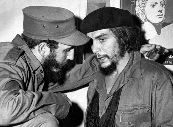 Fidel y el Che. Foto: Archivo.