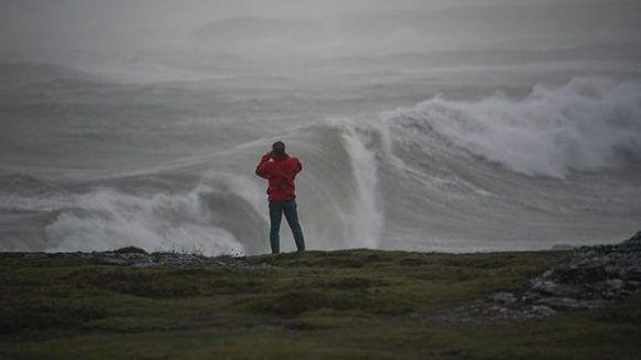 Penetraciones del mar en el sur del Reino Unido causadas por Ofelia. Foto: getty Images.