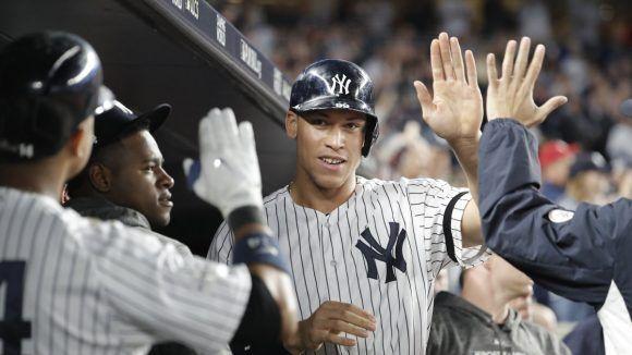 Los Yankkes, con su estrella Aaron Judge, intentarán llegar a la Serie Mundiala. Foto: @Yankees/ Twitter.