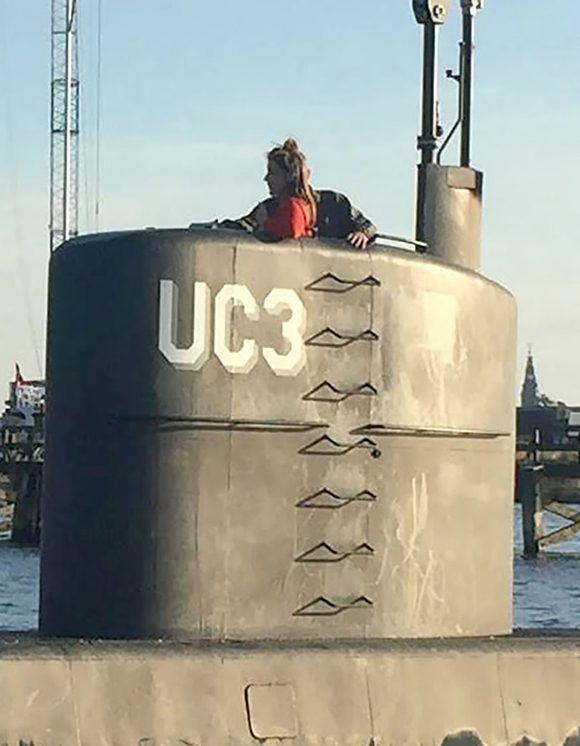 La foto de la periodista Kim Wall el 10 de agosto en el submarino de Peter Madsen. Foto: Tomada de AFP.