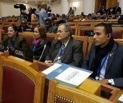 La delegación cubana a la reunión interparlamentaria