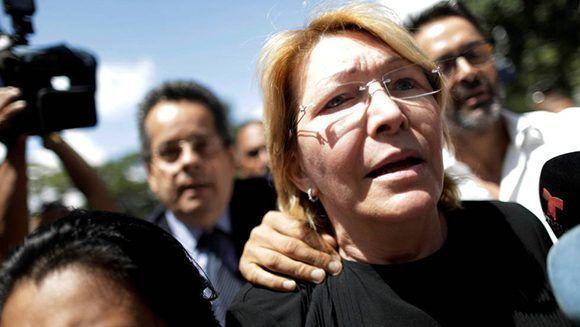 Luisa Ortega, actualmente prófuga de la justicia venezolana. Foto: AP.