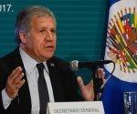 Luis Almagro durante la XLVII Asamblea General de la OEA. Foto:  Elizabeth Ruiz/ Cuartoscuro.