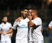 Marco Asensio anotó el primer gol del club merengue en el partido. Foto tomada de Marca.
