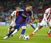 Messi marcó de libre directo. Foto: @FCBarcelona_es.