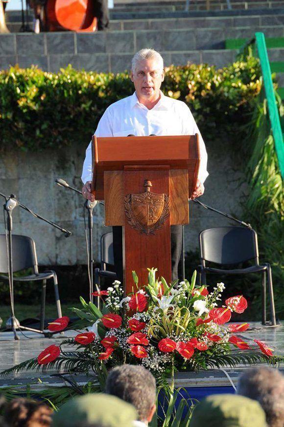 Las palabras centrales del acto fueron pronunciadas por Miguel Díaz-Canel. Foto: Juvenal Balán/ Granma.
