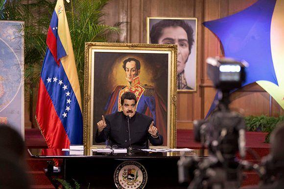 Nicolás Maduro durante una conferencia de prensa en Caracas. Foto: AP.