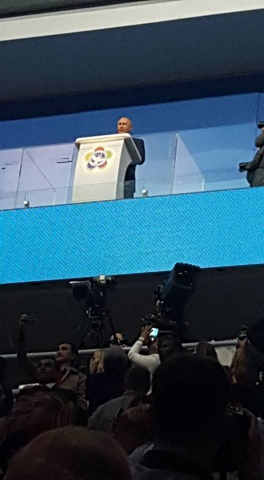 Putin habla en la inauguración del Festival. Foto: Yoanni Duardo / Periodista de Radio Reloj
