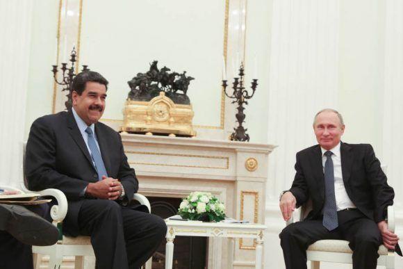 Putin se reunió con Maduro en Rusia. Foto: @PresidencialVen.
