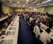 Simultanea de ajedrez en homenaje al Che, Hotel Habana Libre. Foto: Ismael Francisco.