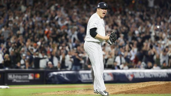 Tanaka lanzó un gran juego. Foto: @Yankees.