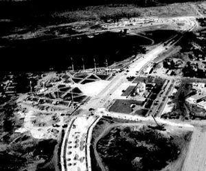 Vista aérea de la Plaza del Che, y su concepción integradora. Foto: Vanguardia / Cortesía Jorge Cao Campo