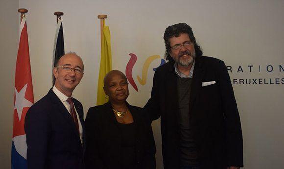 El ministro presidente de la comunidad Valonia-Bruselas en Bélgica recibió a Abel Prieto. Foto: PL.