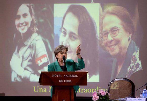 Clausura Alicia Bárcena foro sobre la mujer de América Latina y el Caribe en La Habana