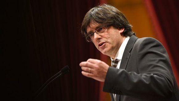 Presidente de Cataluña Carles Puigdemont. Foto: Lluis Gene / AFP