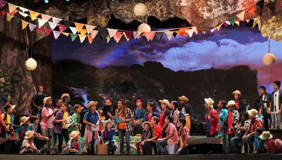La Colmenita, en el aniversario 90 del natalicio de Abel Santamaría Cuadrado, en Encrucijada, Villa Clara. Foto: Mederos, Sadiel
